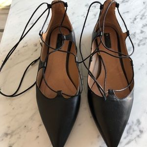 Topshop lace up flats size 39 US 8